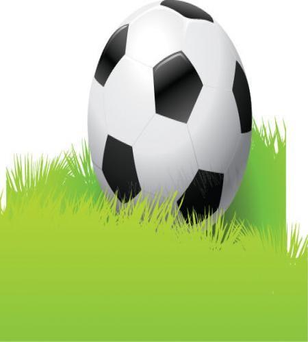 كرة قدم جميلة على عشب اخضر تصميم جميل ملف مفتوح Graphic Design Logo Grass Vector Graphic Illustration