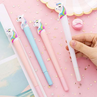 Rainbow Unicorn Gel Pen Colorful Cloud Cute Stationery Cute Pens School Pencil Case
