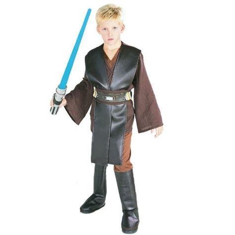 Star Wars Anakin Deluxe Costume Boys Luke Sky Walker Child Kids Fancy Dress 8-10