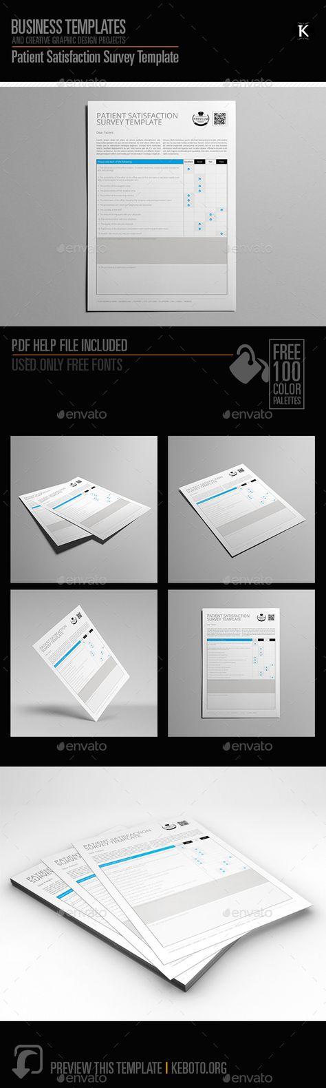 Patient Satisfaction Survey Template  Print Templates Font Logo