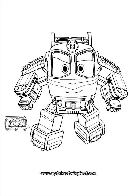 Robot Cartoon Coloring Pages