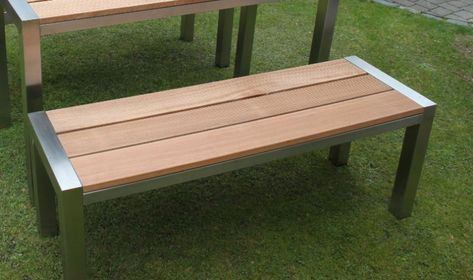 Holz Gartenbank Ohne Lehne Holz Gartenbank Pinterest