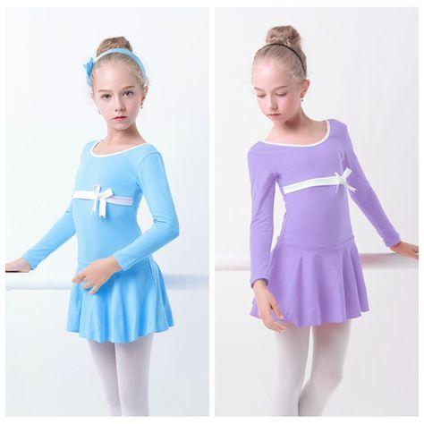10.9US $  Girls Ballet Dress Long Sleeve Skirted Leotards Lovely Cotton Gymnastics Swimsuit for Ballet girls ballet dress ballet dressballet style dress - AliExpress