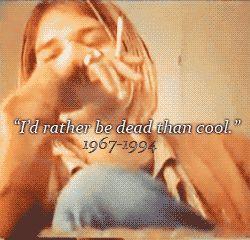 Kurt Cobain, from a series of eerie 27 Club gifs.