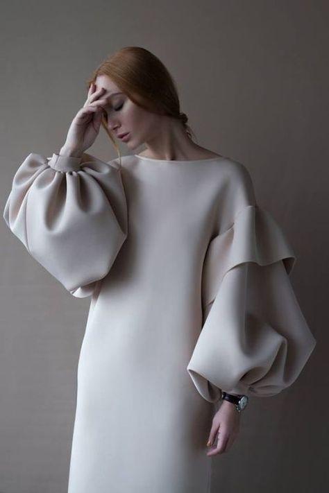 Sheath dress puffy sleeves design modeling beige nude   - sena özdemir - #cold #frost #ice #snow #snowfall #snowing #winter -  Платье футляр пышные рукава дизайн моделирование беж нюд    Sheath dress puffy sleeves design modeling beige nude