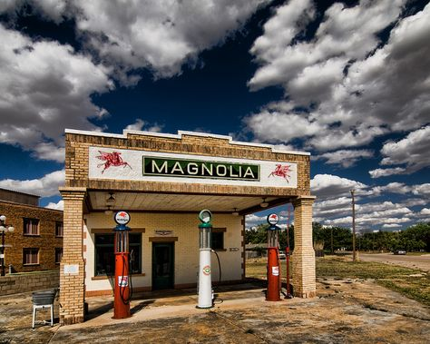 Eventually absorbed by Mobil oil, these were common along the Texas roadside. Shamrock, TX - 66