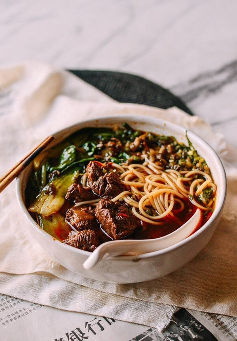 Taiwanese Beef Noodle Soup (Instant Pot), by thewo Cooker Recipes, Soup Recipes, Noodle Recipes, Asian Recipes, Ethnic Recipes, Beef And Noodles, Instant Pot Pressure Cooker, Mets, Soups And Stews