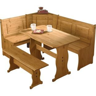 Buy Haversham Pine Effect Dining Table with Nook & Corner Bench at