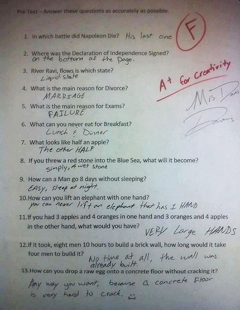 Funny Test Answers from Smart Ass Kids: Borderline Genius 28