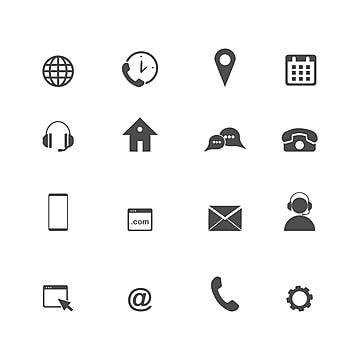 Contact Us Icons Simple Flat Vector Icons Set On White Background Contact Icons White Icons Simple Icons Png And Vector With Transparent Background For Free In 2021 Social Media Icons