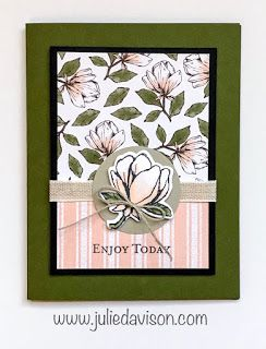 Gdpwinner Stampin Up Good Morning Magnolia Card Magnolia Lane 2019 2020 Annual Catalog Stamp Of The Month C Card Design Handmade Flower Cards Card Art