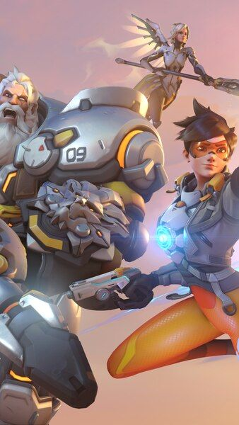 Overwatch 2 Characters Reinhardt Mei Tracer Mercy Lucio 4k Hd Mobile Smartphone And Pc Desktop Laptop Wallpaper 3840x2160 1920x1080 2160x3840 1080x1920
