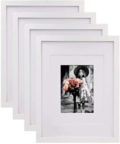 Amazing Offer On Kinlink 11x14 Picture Frames White Wood Frames Hd Plexiglass Pictures 5x7 8x10 Mat 11x14 Without Mat Tabletop Wall Mounting Display Set In 2020 White Picture Frames 11x14 Picture Frame