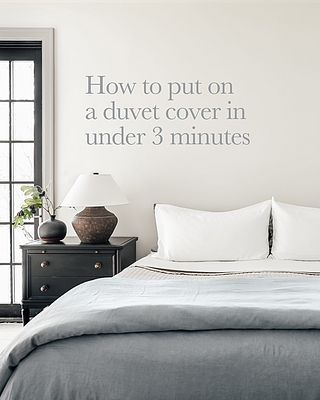 How To Put On A Duvet Cover In Under 3 Minutes Without Crawling Inside So Easy Chris Loves Julia Duvet Covers Duvet Classic Duvet Covers
