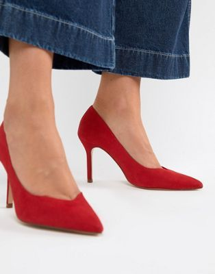 d290655a4fe Stradivarius court shoe in red | Wish list AW | Red court shoes ...