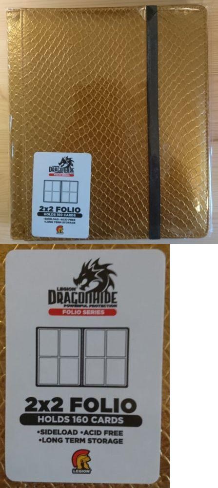 Gold Legion Dragon Hide 4 Pocket Binder for Cards