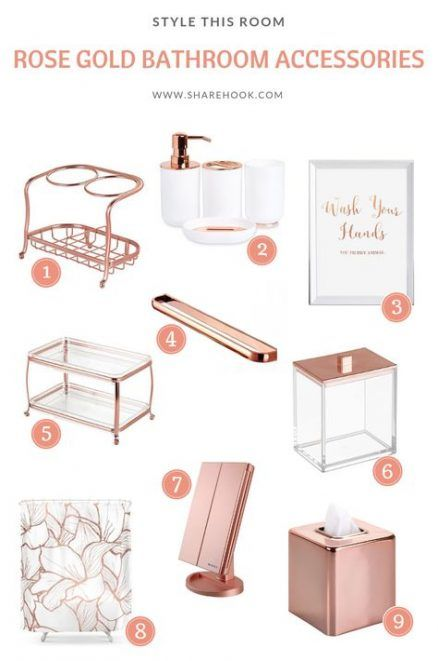 Bath Copper Rose Gold 50 Ideas Bath Gold Bathroom Decor Gold