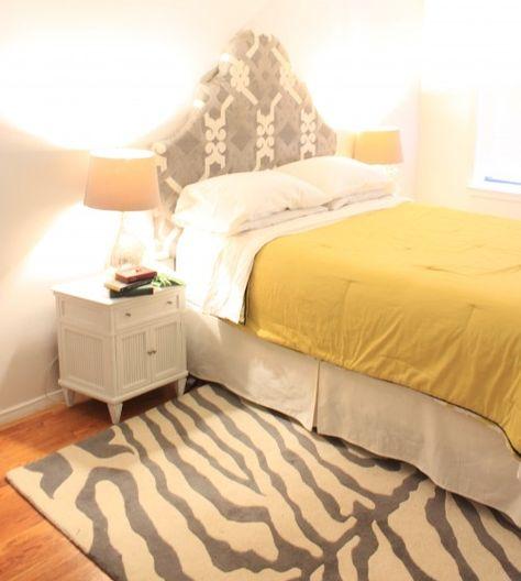 Grey bedroom  White Bedroom  Green and White room  Zebra Rug