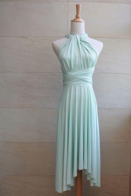 275c2217340 TDY Nude Pink Short Asymmetrical Bridesmaid Dress Convertible Dress ...