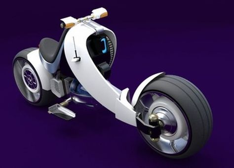 French designer Romain Herment's concept nuclear-powered, Motorbike 2050, ver. 2.