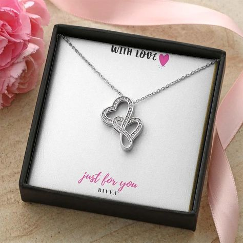 Double Hearts Necklace - Rivva Jewels | As Unique As You