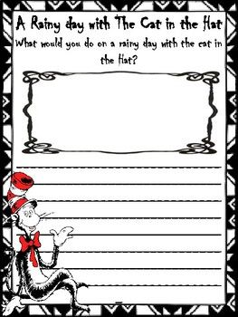 The Cat In The Hat Writing Prompts Dr Seuss Writing Prompts Writing Prompts For Kids Writing Prompts Poetry