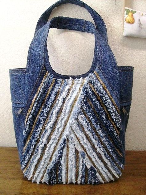 So many creative upcycled denim projects