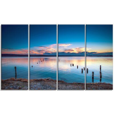 Design Art Bright Blue Sky And Blue Waters 4 Piece Photographic Print On Wrapped Canvas Set Design Art Canvas Set Art
