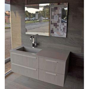 Mobile bagno sospeso doppio lavabo integrato Tulle Archeda | Doppio ...
