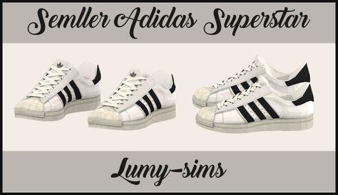 Semller Adidas Shell Shoes No Socks | Sims, Sims 4 contenu
