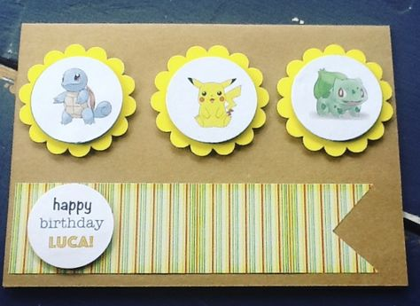 Handmade Pokemon Birthday Card Pokemon Birthday Card Cards Handmade Card Making