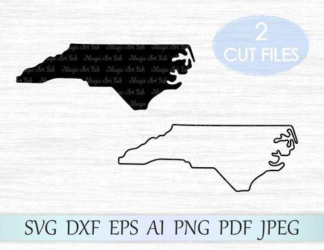 North Carolina svg, North Carolina state svg, North Carolina vector, North Carolina outline, NC state svg, NC svg file, Nc cricut cut file