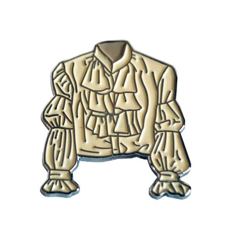 Puffy Shirt Lapel Pin from Valley Cruise Press