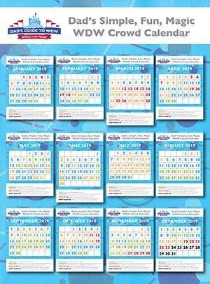 Calendario De Multitudes Disney 2019.Dad S Walt Disney World Crowd Calendars In 2019 Disney