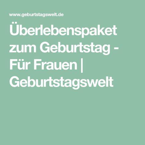 Uberlebenspaket Zum Geburtstag Fur Frauen Uberlebenspaket