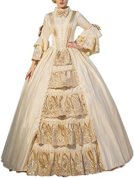 Renaissance Fair Cinderella Lace Fancy Dress Ball Gown Theater Reenactment 142