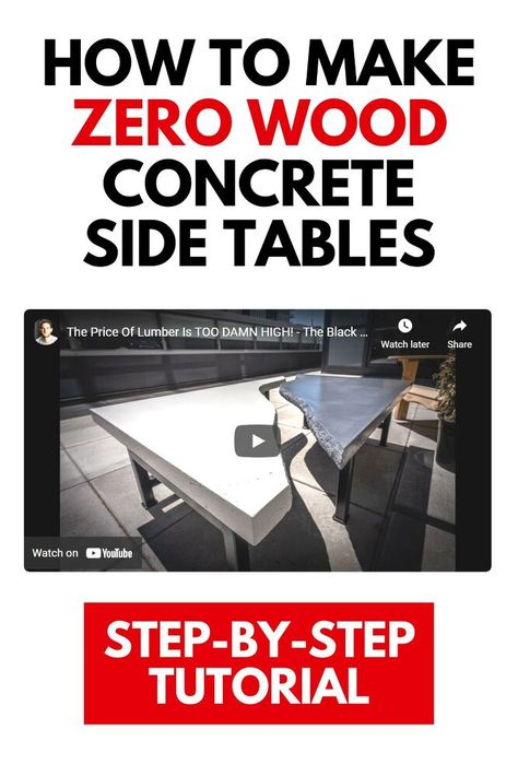 With the price of wood getting expensive see this DIY outdoor concrete table tutorial on a budget.