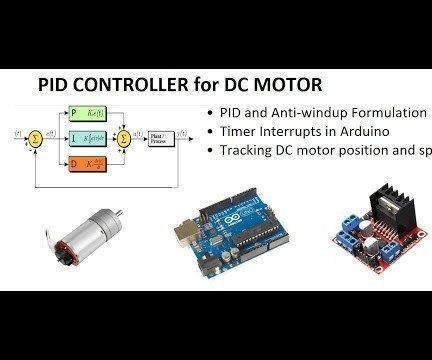 Pid Controller Dc Motor Speed Tracking Using Arduino In 2020 With
