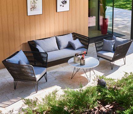 Conjunto De Aluminio Detroit Leroy Merlin Muebles Muebles Terraza