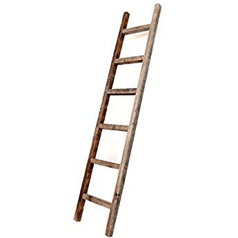 Barnwoodusa Rustic 6 Ft Decorative Ladder 100 Reclaimed Wood Ladder Weathered Gray Wooden Ladder Old Wooden Ladders Wood Ladder