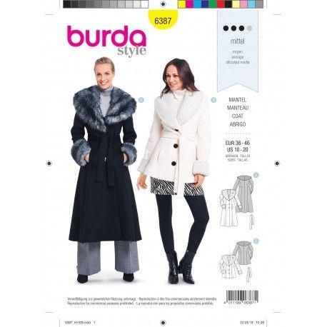 Patron Burda Manteau cintré pour femmes