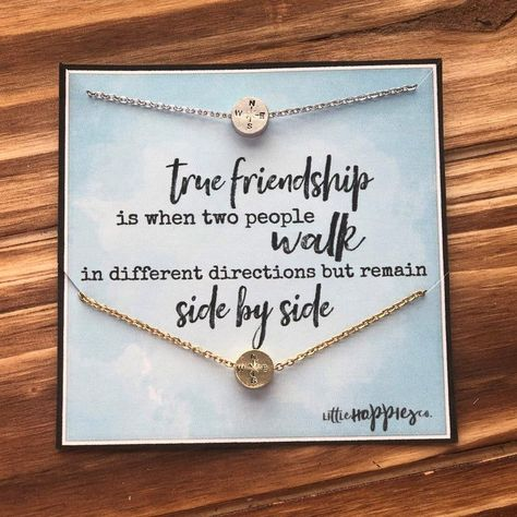 Unique Best Friend Gifts, Presents For Best Friends, 25th Birthday Gifts, Birthday Gifts For Best Friend, Birthday Ideas, Graduation Gifts For Friends, Bff Gifts, Friendship Necklaces, Friendship Cards