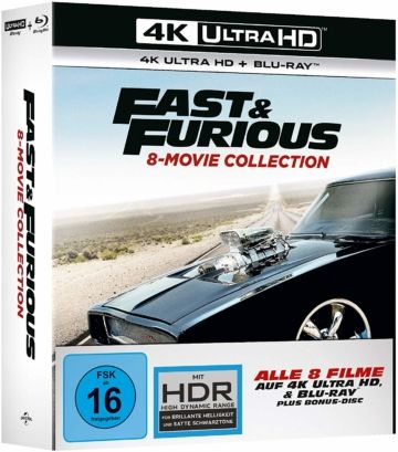 Fast Furious 1 8 4k Ultra Hd Collection Uhd Blu Ray Disc Dvd Dvd Fast And Furious Filme