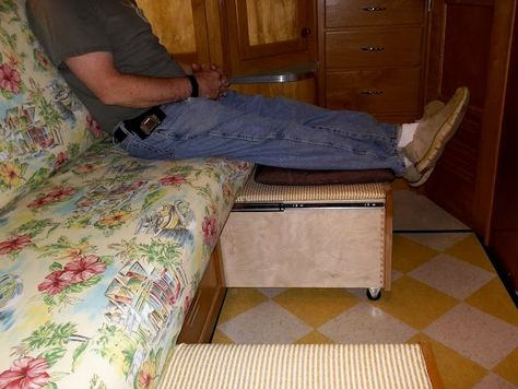 Smart--the drawers will support the bed and can act as footrests, the wheels won't scratch the floor