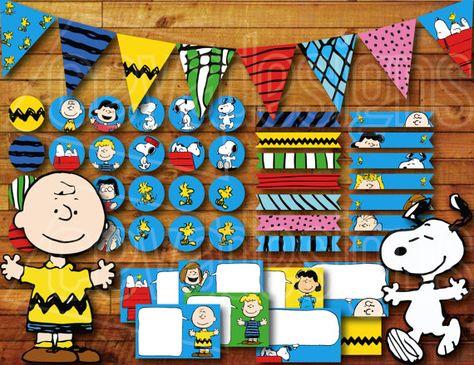 Decoración de fiesta de cumpleaños de Snoopy para por CEVADesigns