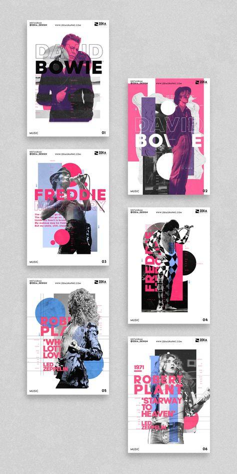 Music Poster Design Series - Zeka Design