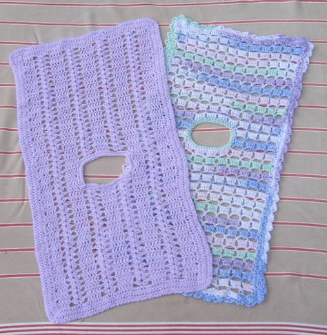 Hooked For Life--Mary Beth Temple--Two Infant Seat Car Blankets (Crochet)