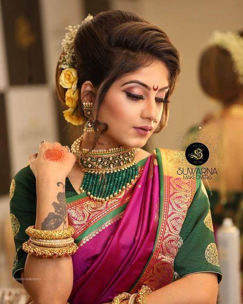 मर ठम ळ स दरत Indian Wedding Hairstyles