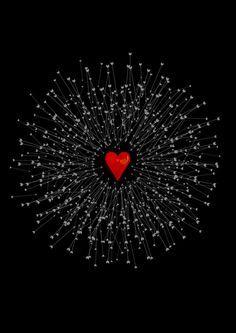 Heart&Arrows_BLACK Art Print by SEVENTRAPS | Society6