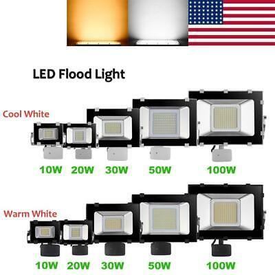 LED Floodlight PIR 10//20//30//50//100W Motion Sensor Outdoor Flood Lights Warm Cool